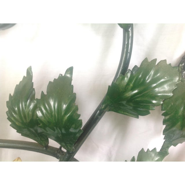 1970s Mid-Century Metal Hydrangea Sconce For Sale - Image 5 of 11