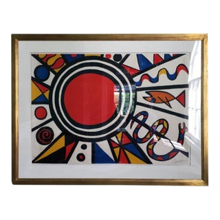 "Alexander Calder lithograph ""Environment and Evolution"" For Sale"