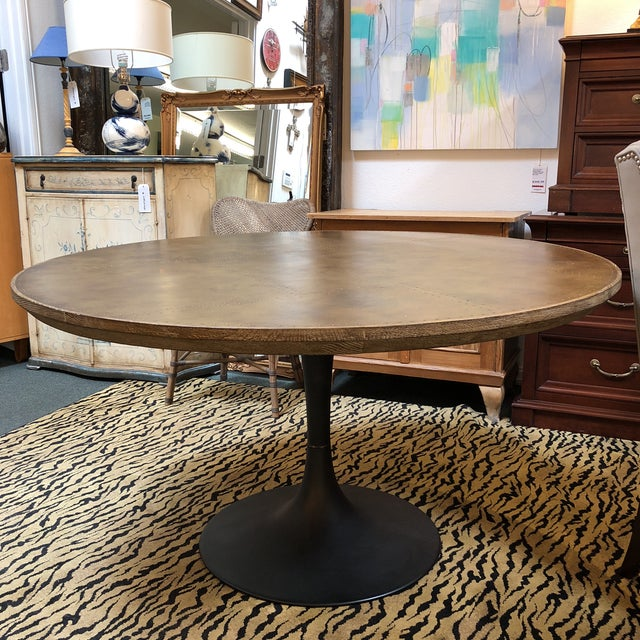 Four Hands Powell Pedestal Dining Table For Sale - Image 11 of 12