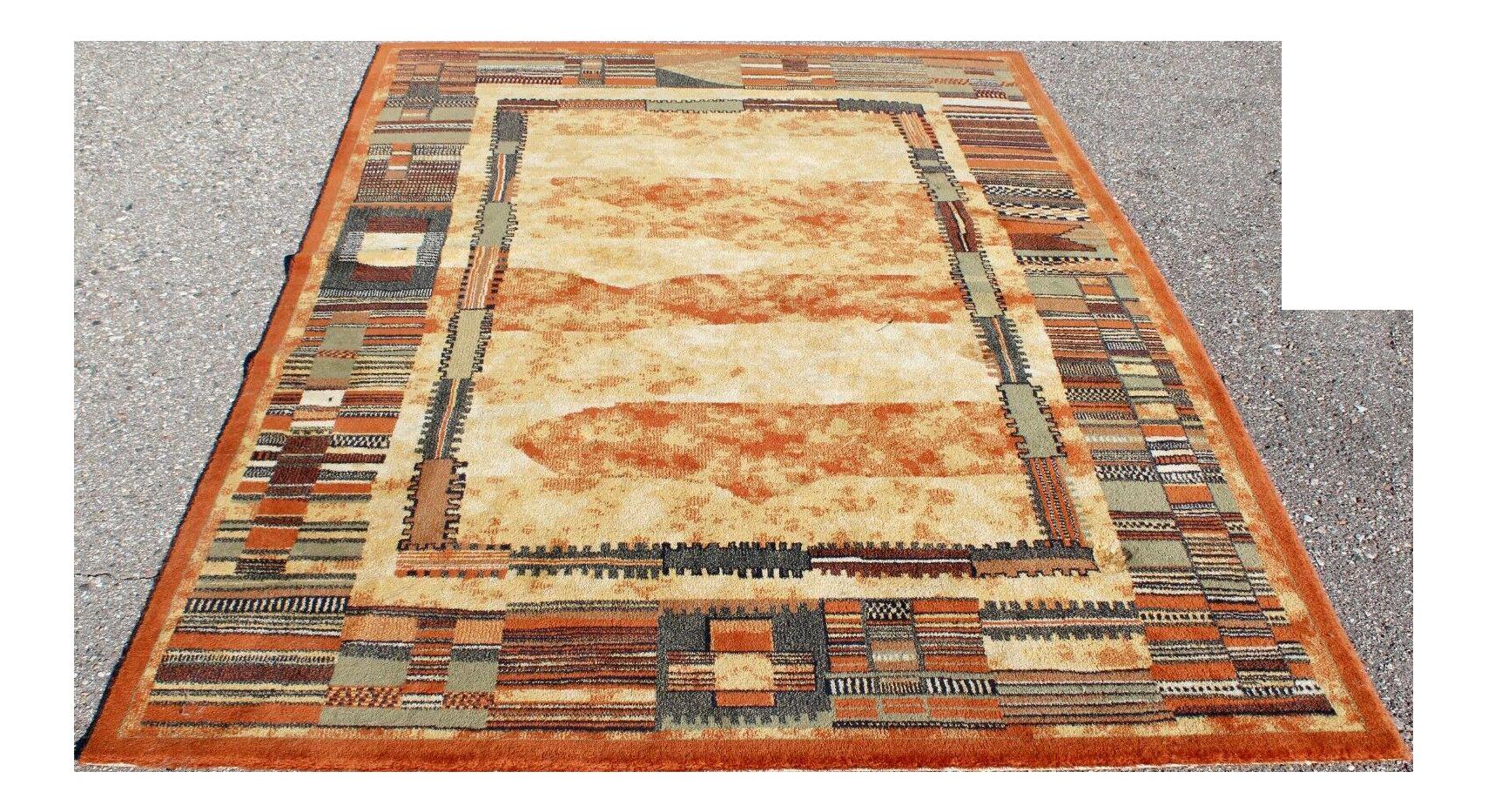 Mid Century Modern Decor Wool Wool Rectangular Area Rug 5 3 7 7