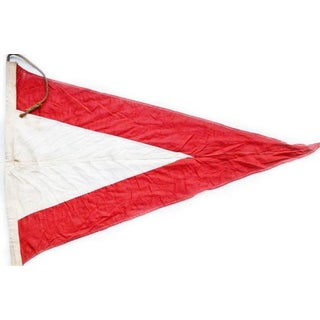 Vintage Ships Signal Flag Nautical Signal Pennant