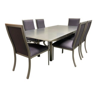 Late 20th Century Custom Metal Dining Set For Sale
