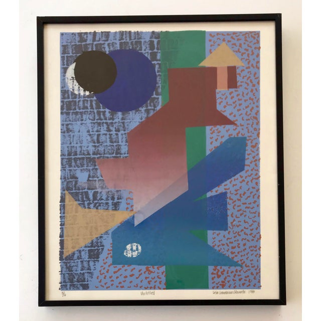 Black Vintage Abstract Silk Screen Original Art For Sale - Image 8 of 8