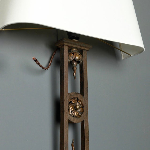 Tall Iron Sconces Made from Antique Balustrades - a Pair For Sale In Detroit - Image 6 of 9