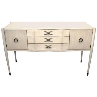 Paul Frankl for Brown Saltman Credenza in White Wash Finish For Sale