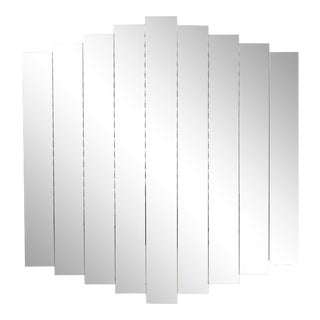 Art Deco 9-Panel Beveled Step Mirror For Sale