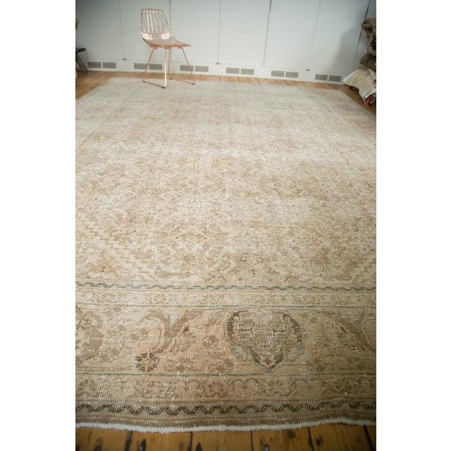 "Vintage Distressed Mahal Carpet - 10'3"" x 13'8"" For Sale - Image 10 of 10"
