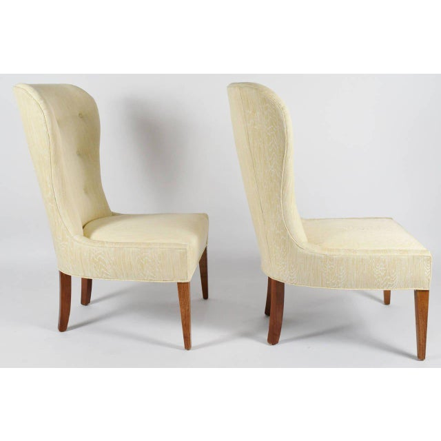 Modern Balloon Back Chairs- a Pair For Sale - Image 4 of 6