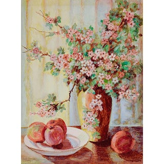 Apple Blossom Still Life Painting For Sale