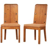 Image of 1930s Vintage Axel Einar Hjorth Lovo Chairs- a Pair For Sale