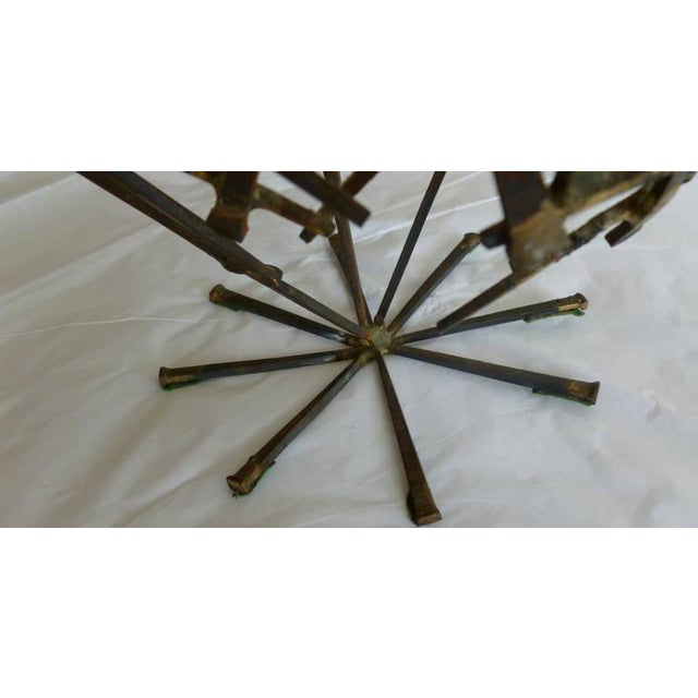 1970s 1970s Brutalist Abstract One of Kind Tabletop Nail Sculpture For Sale - Image 5 of 11