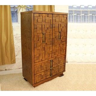 Mid-Century Modern Brutalist Armoire Dresser Preview