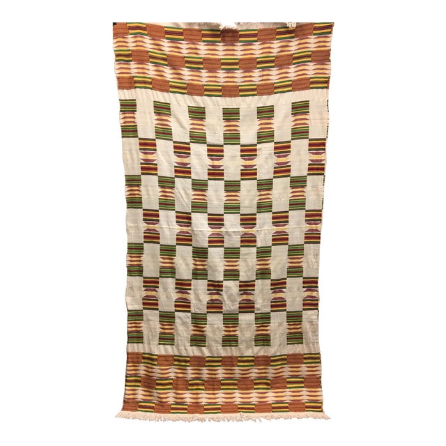 """African Tribal Vintage Textile Throw - 41"""" x 79"""" - Image 1 of 11"""