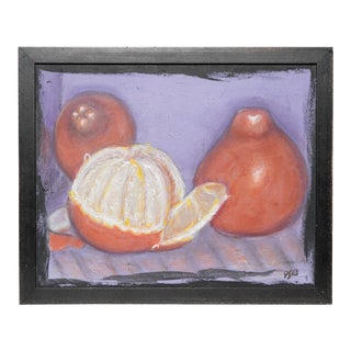 1980s Original Still Life Painting of Oranges