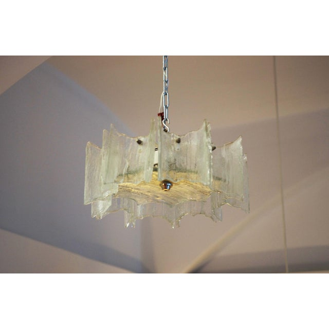 Glass chandelier by JT Kalmar For Sale - Image 11 of 11