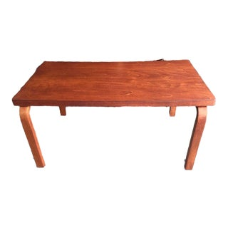 1960s Modern Alvar Aalto Artek Bentwood Leg Coffee Table For Sale