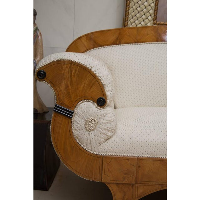 19th Century Russian Biedermeier Cherrywood Settee For Sale In West Palm - Image 6 of 9