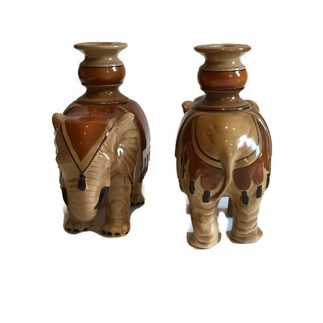 Fitz and Floyd Fitz & Floyd Elephant Candle Holders - A Pair For Sale - Image 4 of 10