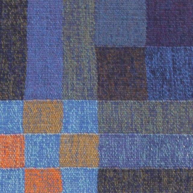 Vintage Scandinavian Square Rug by Karin Jonsson - 6′7″ × 6′7″ For Sale - Image 4 of 7