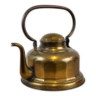 Vintage Art Deco Brass Kettle Teapot