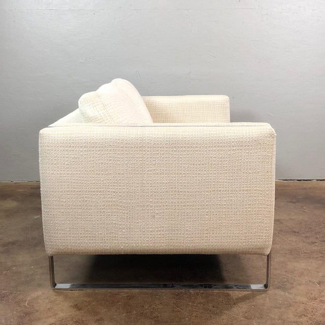 Mid-Century Modern Mid Century Modern Milo Baughman Chrome Framed Love Seat For Sale - Image 3 of 11