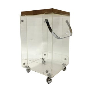Plexiglass Bar Cart Workstation For Sale