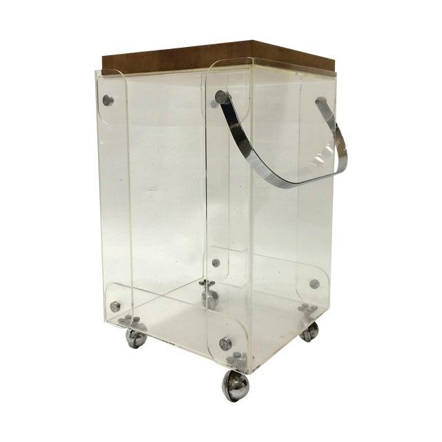Plexiglass Bar Cart Workstation - Image 1 of 6