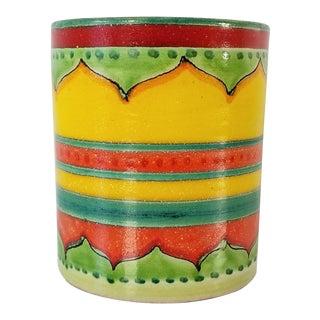 Italian Desimone Colorful Ceramic Vase For Sale