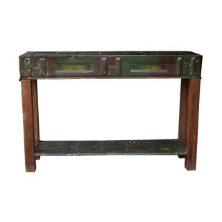 Wooden Military Console Table