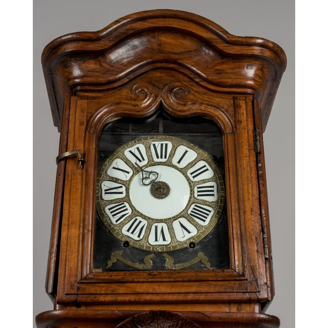Brown 18th Century French Tall Case Clock or Horloge De Parquet For Sale - Image 8 of 13