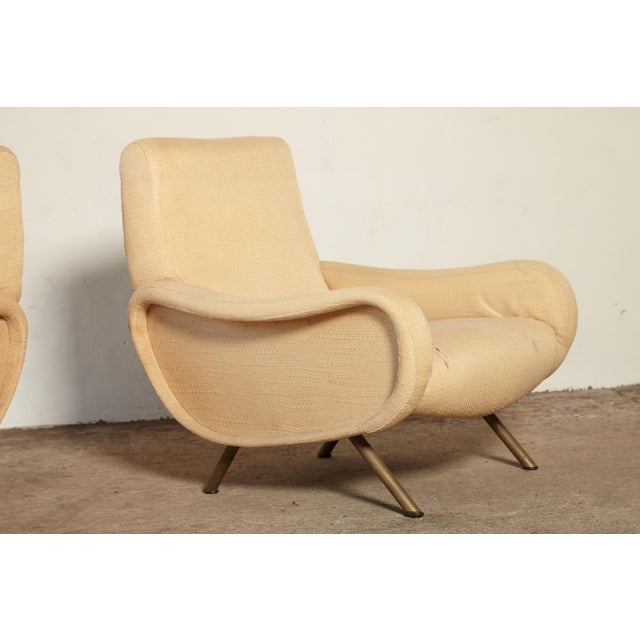 White Original Marco Zanuso Lady Chairs, Arflex, Italy, 1960s for Reupholstery For Sale - Image 8 of 10