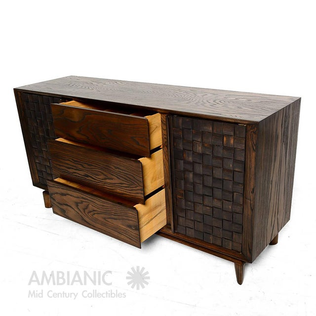 Brown Saltman Modern Checkered Credenza by Paul Laszlo for Brown Saltman For Sale - Image 4 of 10