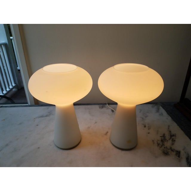 Lisa Johansson Pape Glass Lamps - A Pair For Sale - Image 11 of 11