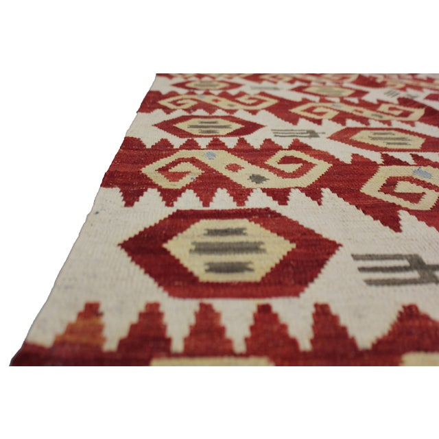 "Aara Rugs Inc. Hand Knotted Maimana Kilim - 6'2"" X 4'5"" For Sale - Image 4 of 5"