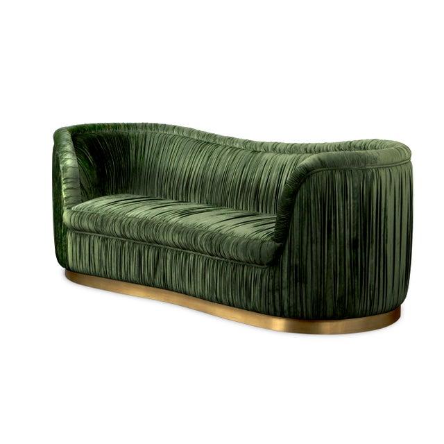 Brass Covet Paris Dakota Sofa For Sale - Image 8 of 9