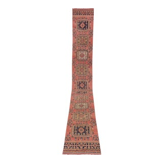 """Vintage Turkish Oushak Runner With Eclectic Mediterranean Style-Long Runner 2'8"""" X 20'9"""" For Sale"""