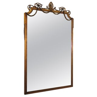 1920s Large Gustavian Wood and Gesso Mirror For Sale