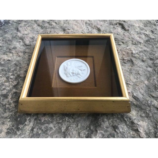 Native American Intaglio Style Medallion on Velvet For Sale - Image 4 of 8