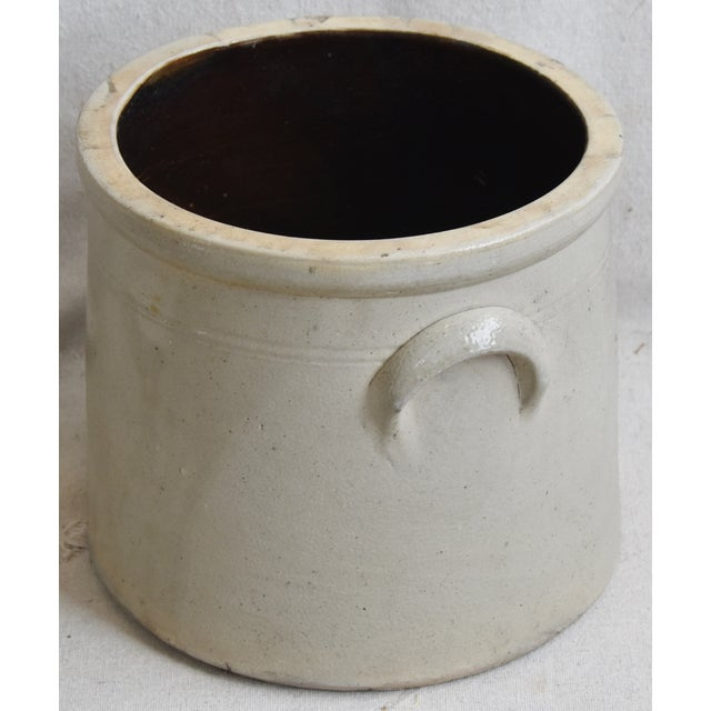 Early 20th Century Antique Italian Glazed Stoneware Crock For Sale - Image 5 of 8
