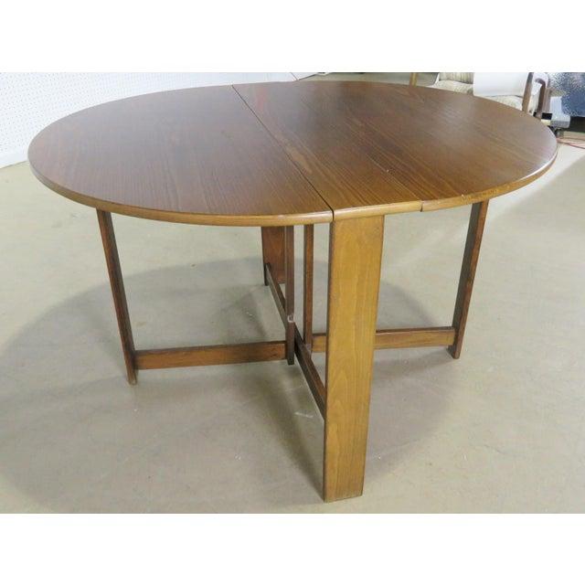 Mid-Century Modern Mid-Century Modern Teak Drop Leaf Table For Sale - Image 3 of 9