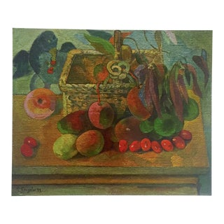 "Gauguin Original Vintage 1972 Lithograph Print ""Still Life With Exotic Fruit"", 1902"