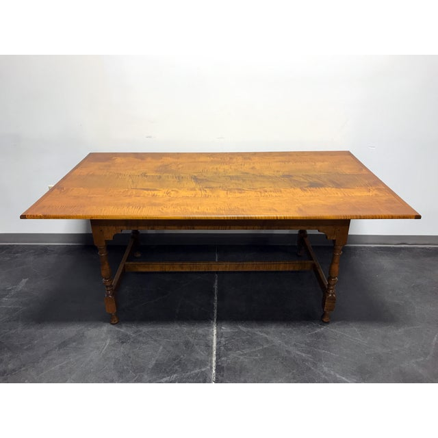 JL Treharn Tiger Maple Mission Shaker Amish Style Farmhouse Dining Table For Sale - Image 11 of 11