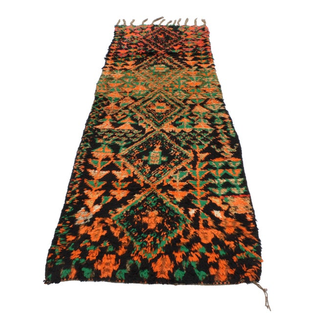 Boho Chic Vintage Moroccan Mid-Century Modern Tribal Style Berber Runner Rug - 2′7″ × 8′3″ For Sale - Image 3 of 7