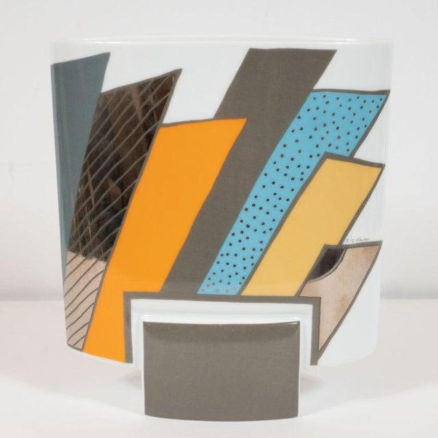 Orange Mid-Century Porcelain Vase by Michael Boehm & Rosemonde Nairac for Rosenthal For Sale - Image 8 of 11