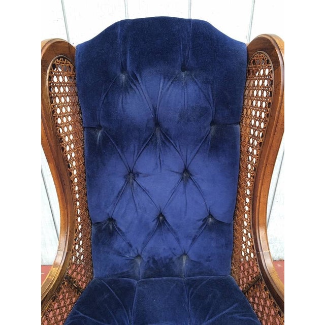 Vintage Cane Lewitte Wing Back Chairs - A Pair - Image 6 of 7
