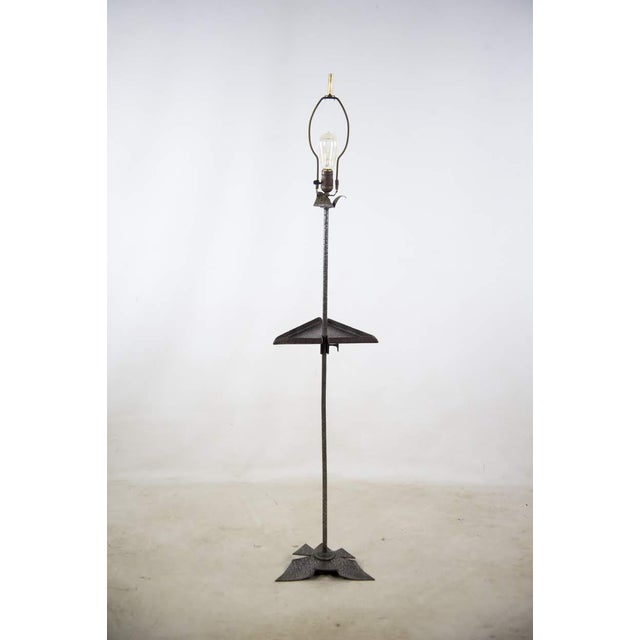 Arts & Crafts 19th Century Arts and Crafts Beardsley Studios Steel Floor Lamps - a Pair For Sale - Image 3 of 13