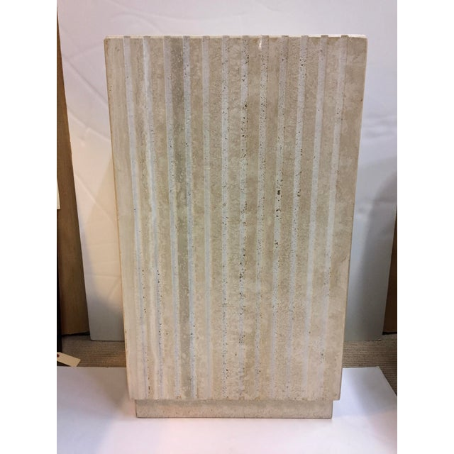 Vertical Cut Travertine Console Pedestal For Sale - Image 10 of 10