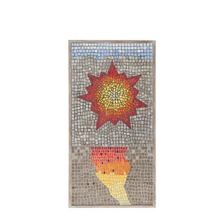 Vintage Mid-Century Framed Mosaic Wall Art For Sale