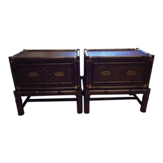 Ralph Lauren British Isles Chest Tables / Stands - a Pair