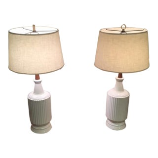 1960s Mid-Century Modern Ceramic Lamps - a Pair For Sale
